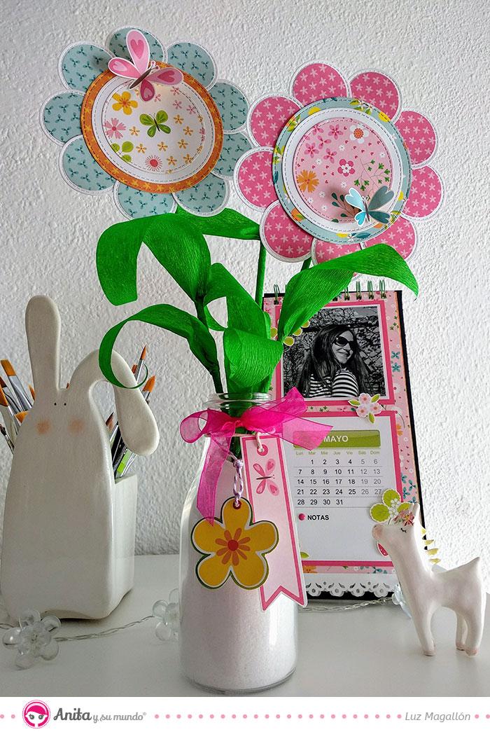 flores para decorar tu scraproom