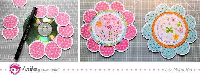 cómo hacer una flor con circulos de papel