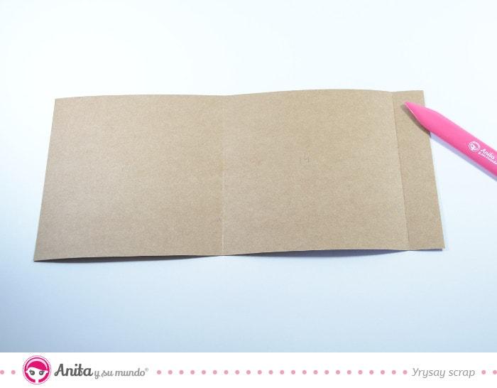 mini álbum interior flip box