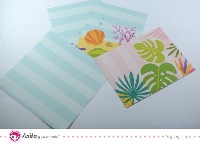 piezas papel scrapbooking flip box