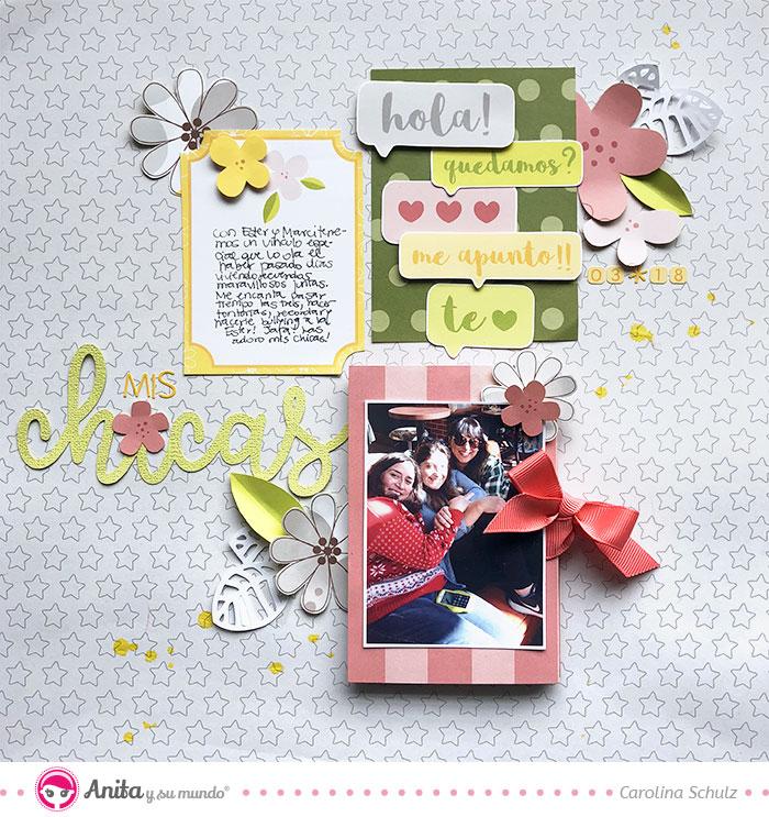 proyecto scrapbooking 2 en 1: layout con mini album