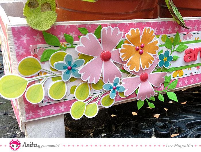 utilizar enamel dots para decorar flores de papel