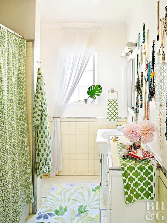 Baños con decoración en verde