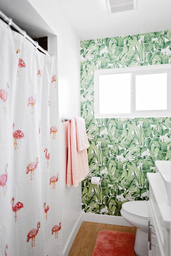 Baños con estilo tropical