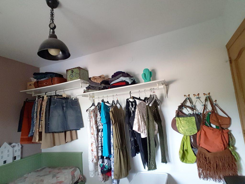 Alternativa al armario - Vista general del espacio para armario