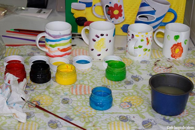 Cómo decorar tazas con témperas