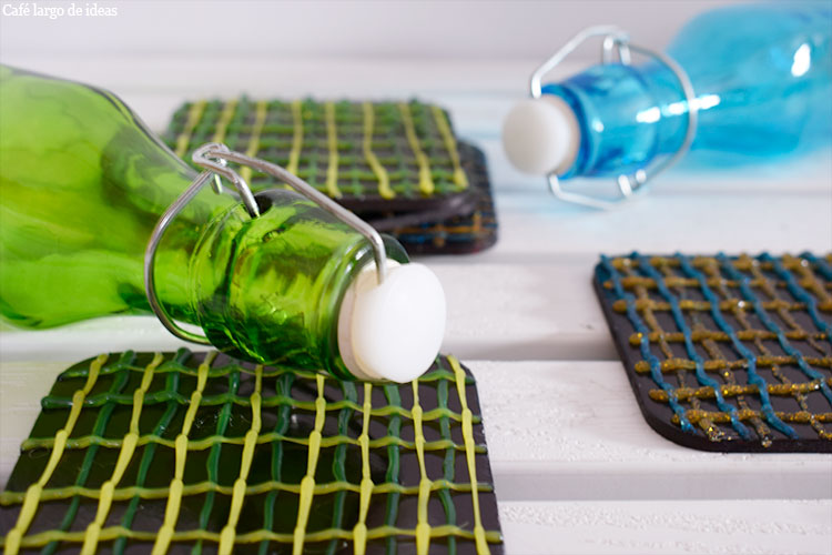 Posavasos de silicona reciclados