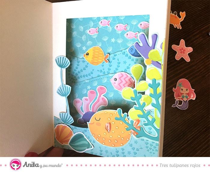tarjetas diorama marinas