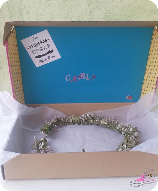 caja para corona de flores