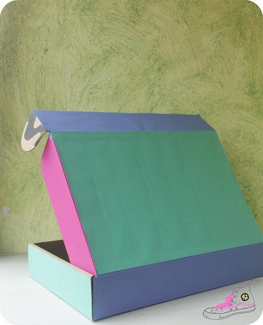 caja forrada con folios