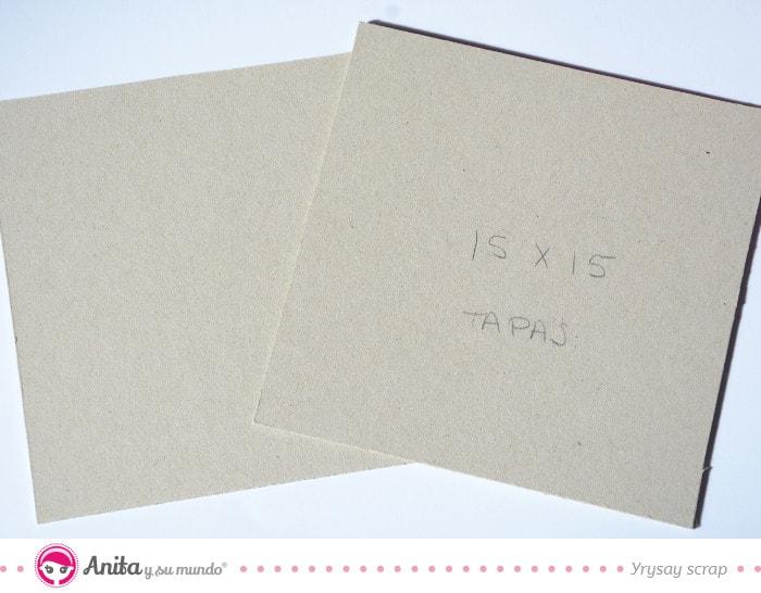 cartón base de anita y su mundo de scrapbooking