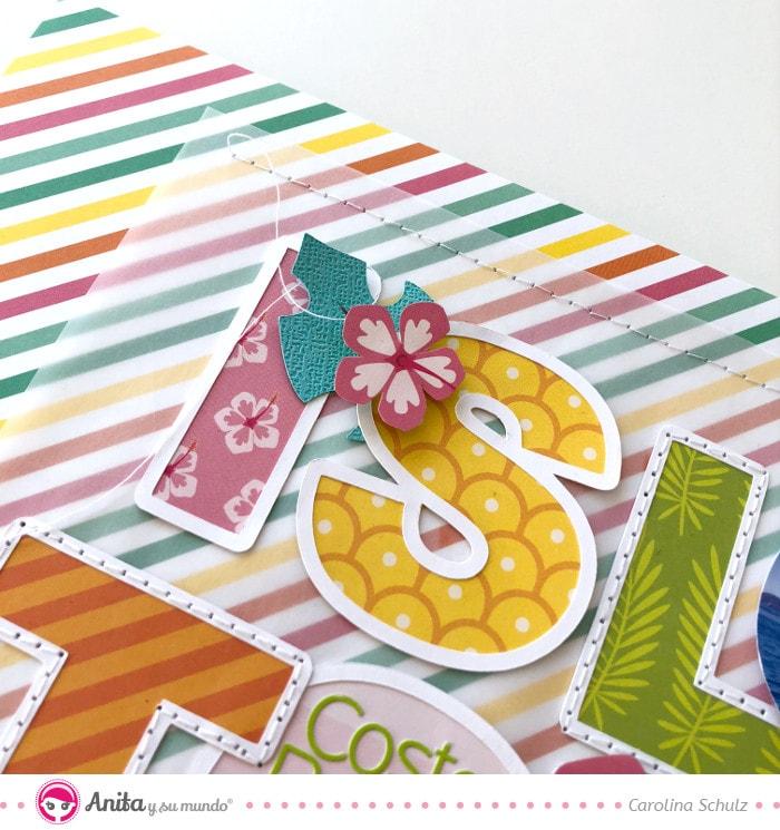 conjunto papel recortable para decorar layouts de scrapbooking
