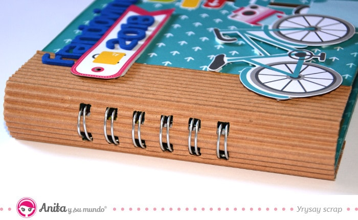 lomo para encuadernación fácil de cuaderno