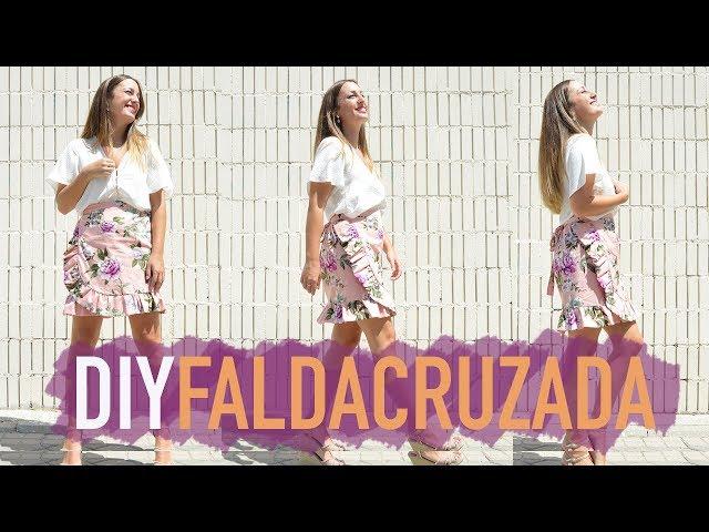 Como hacer una falda cruzada, muy fácil (Incluido patrón)  DIY ...