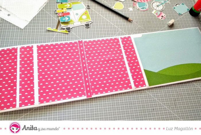Papel estampado para decorar scrapbook