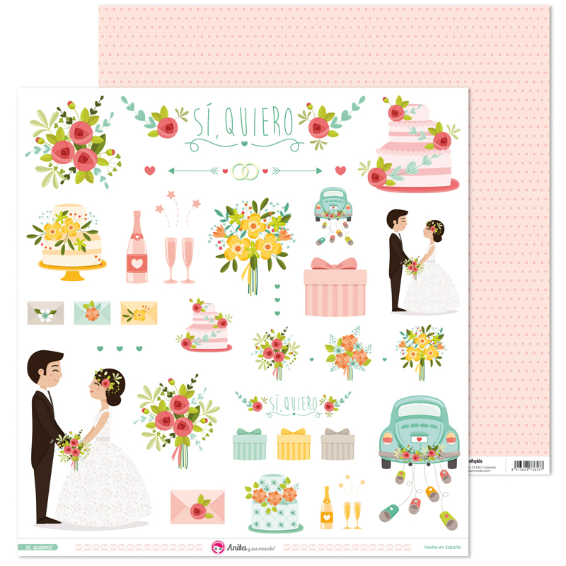 página de recortables de la coleccion de boda de anita y su mundo