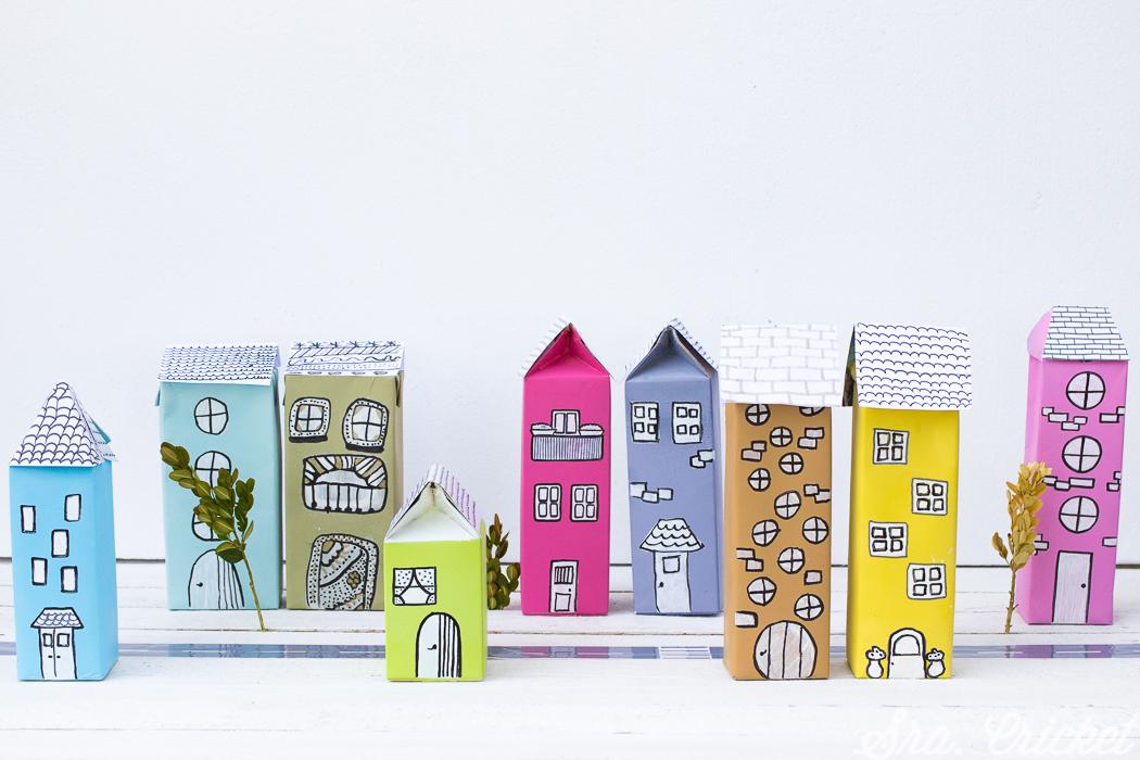 casitas de carton reciclado envases tetrabrik
