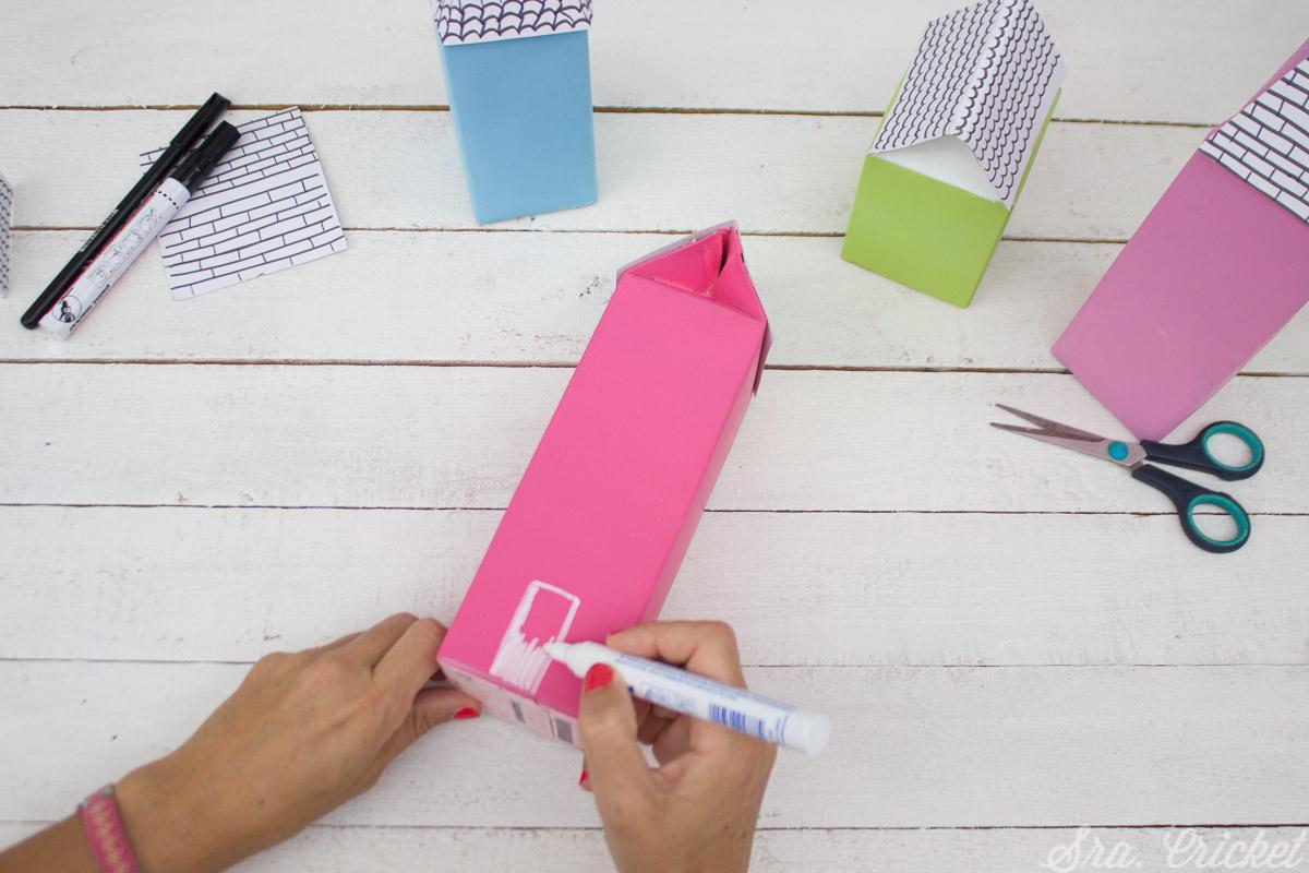 como reciclar envases de carton para hacer manualidades