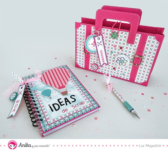 diy set de escritorio con papel decorado