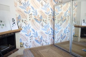vestidor papel pintado
