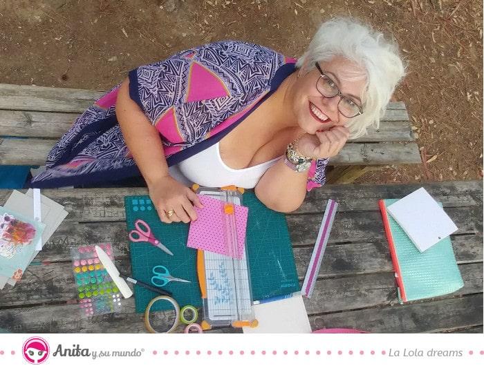 entrevista con la lola dreams scrapera del equipo de diseño de Anita y su mundo