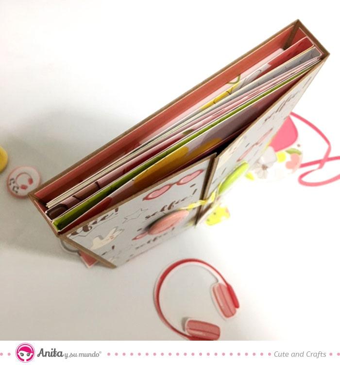 estructura desplegable para scrapbook