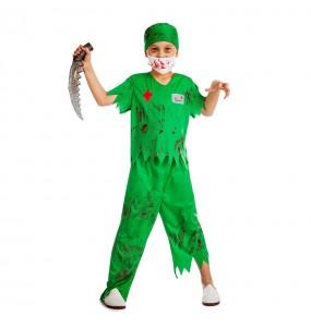 Disfraz de cirujano zombie para Halloween