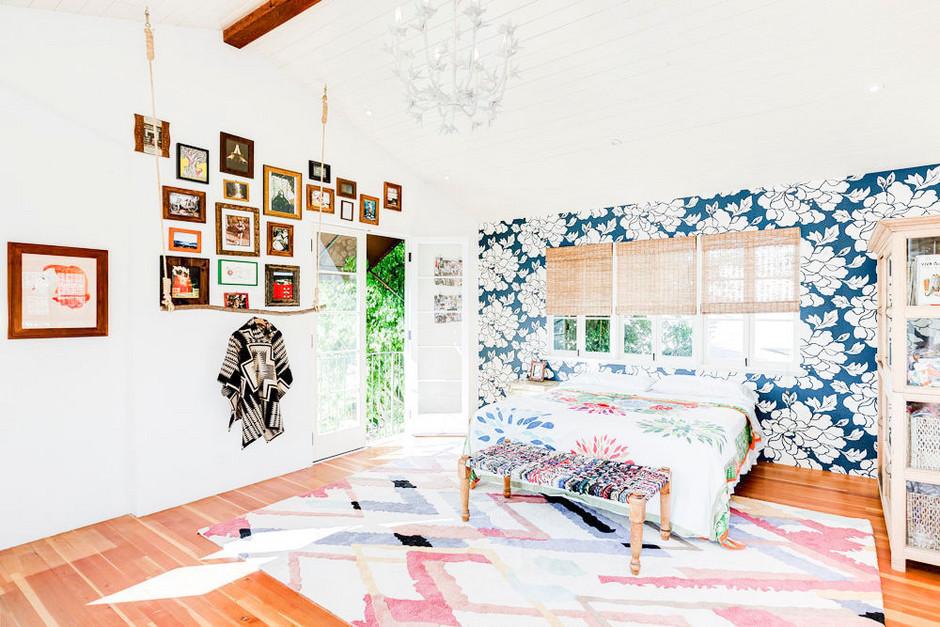 Decoración ecléctica en el dormitorio