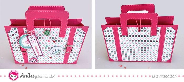 tutorial maletín papel para crafters