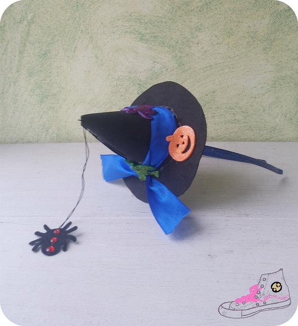 sombrero en diadema diy