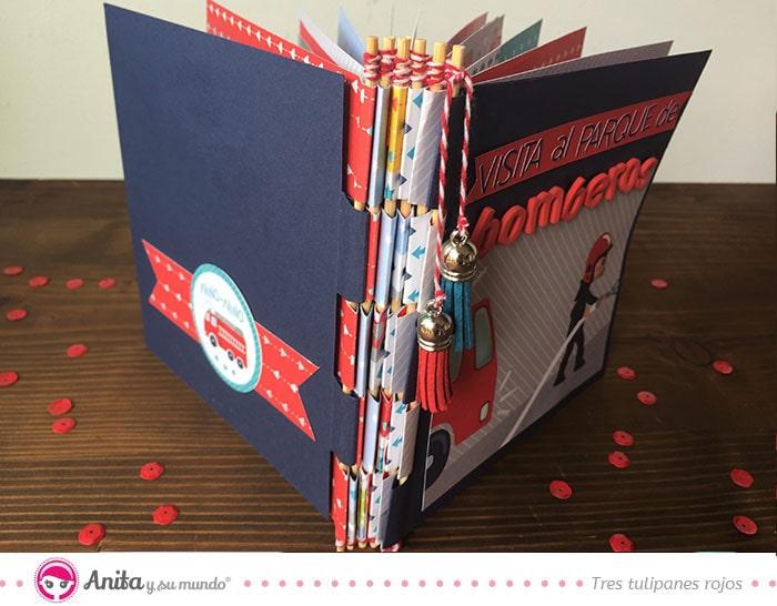 álbum infantil encuadernación piano hinge binding