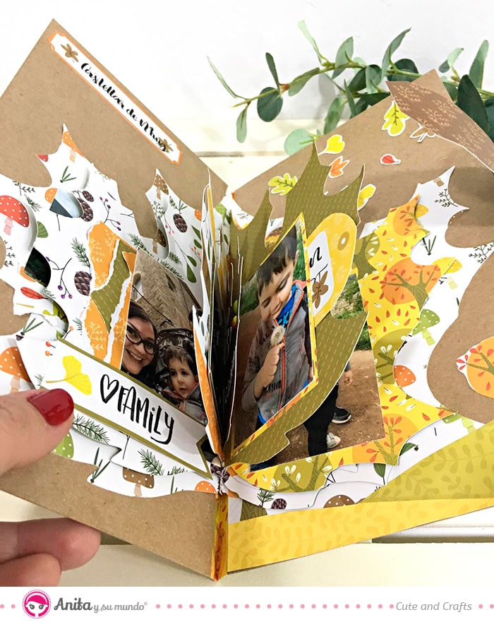 album scrap hojas de otoño