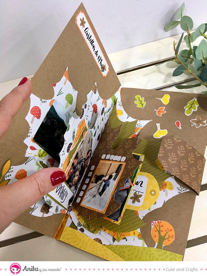 album scrap otoño colección en el bosque