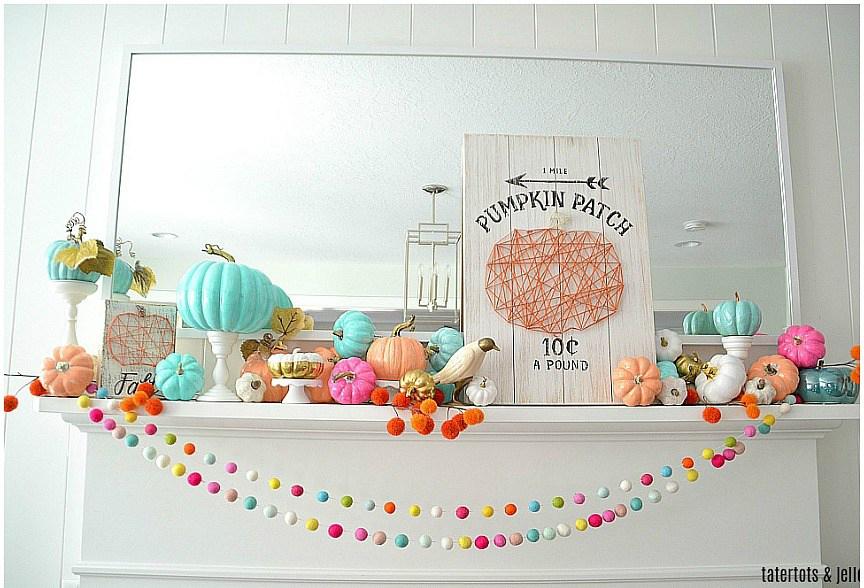 Calabazas de Halloween - calabazas en tonos pastel