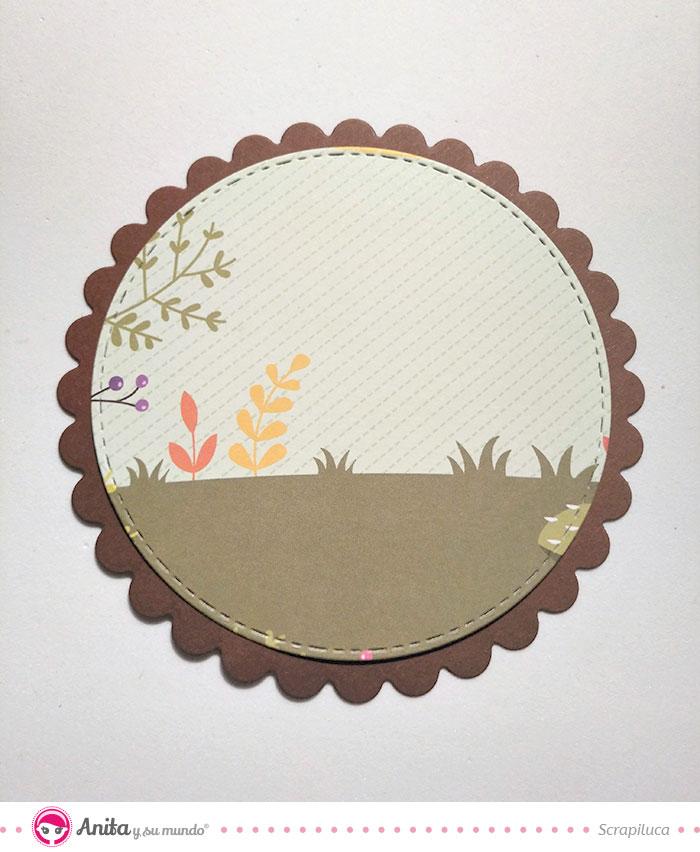 cómo decorar albumes con papel estampado