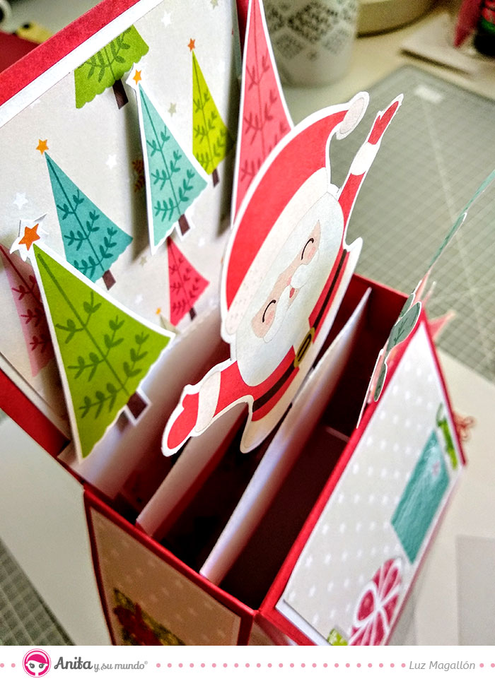 como decorar card in box de navidad