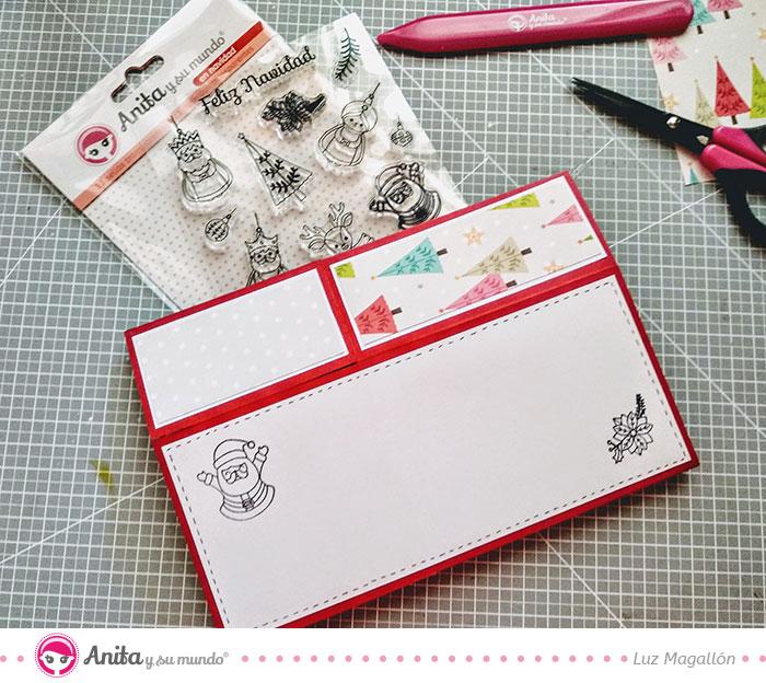 cómo usar sellos navidad scrapbooking