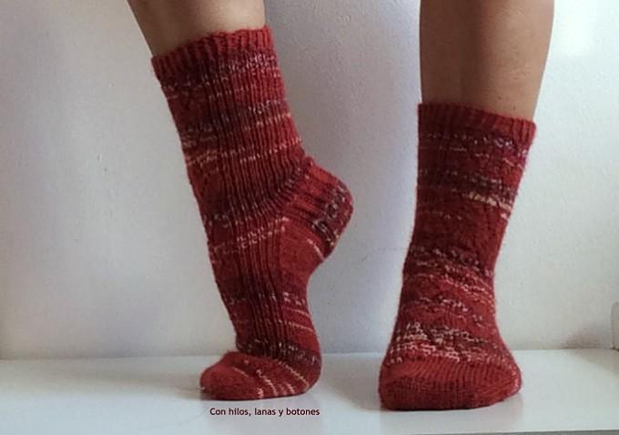 Con hilos, lanas y botones: Calcetines Azurean