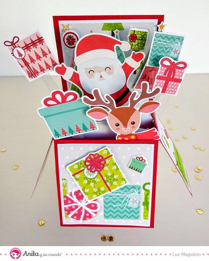 card in box papa noel