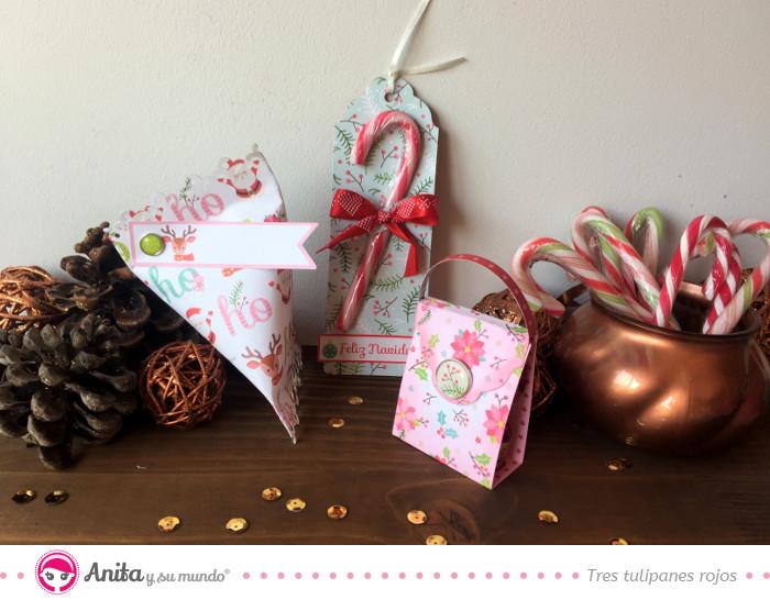 dulceros de papel para navidad