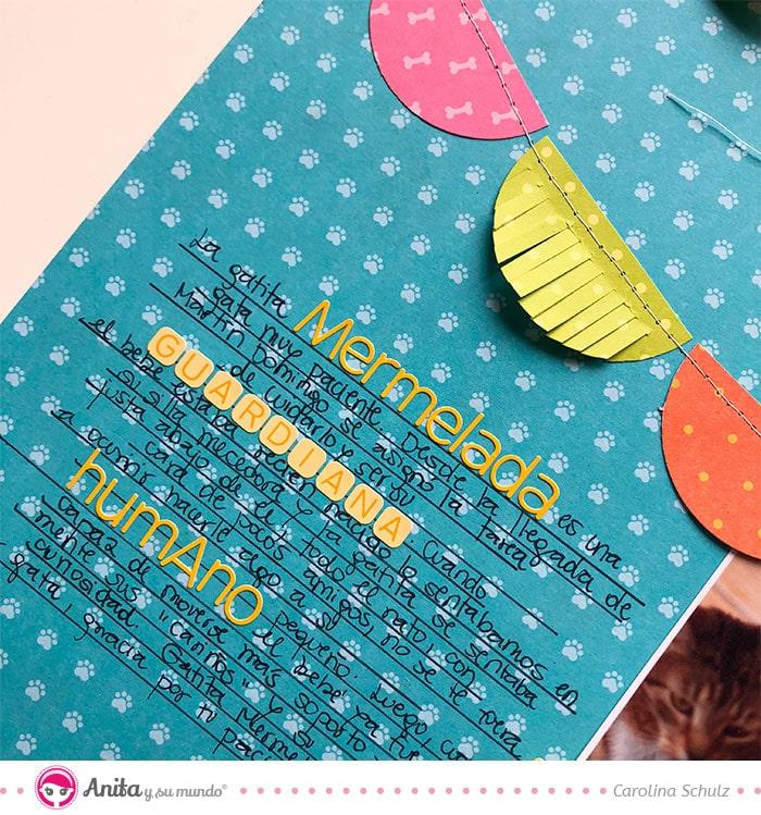 journaling en layouts. como usar abecedarios adhesivos
