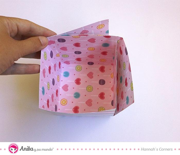 como montar una caja de papel manualidad de halloween