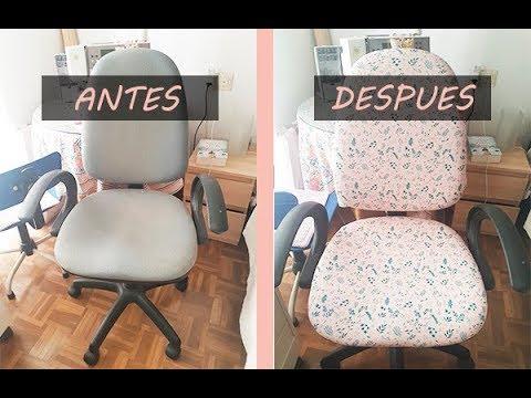 Cómo tapizar una silla de oficina rapido y fácil con tela - Handbox ...