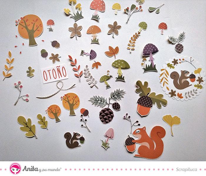 recortables coledcion otoño de anita y su mundo