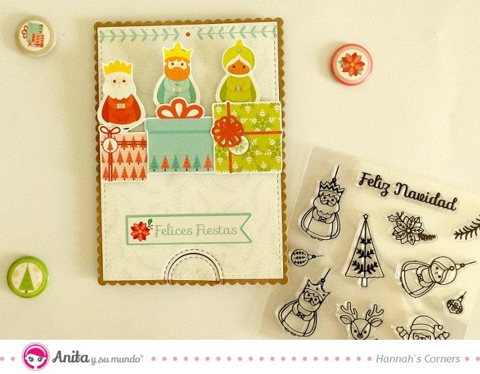 tarjeta de navidad con mensaje secreto