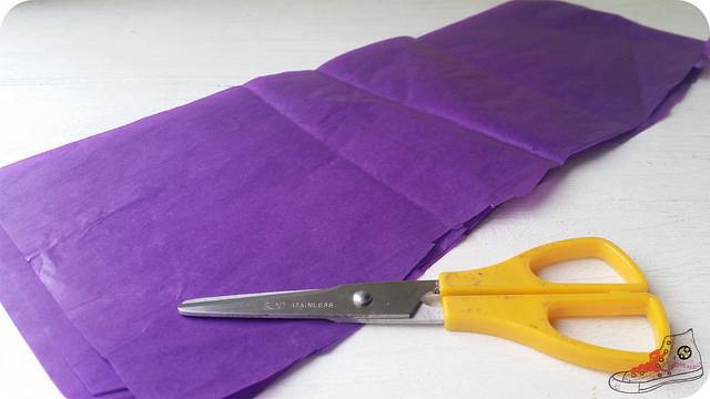 tiras de papel de seda