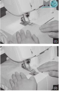 empezar a coser recubridora