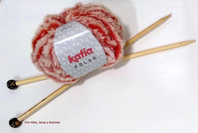 Con hilos, lanas y botones: DIY cuello de punto con Katia Polar (patrón gratis)