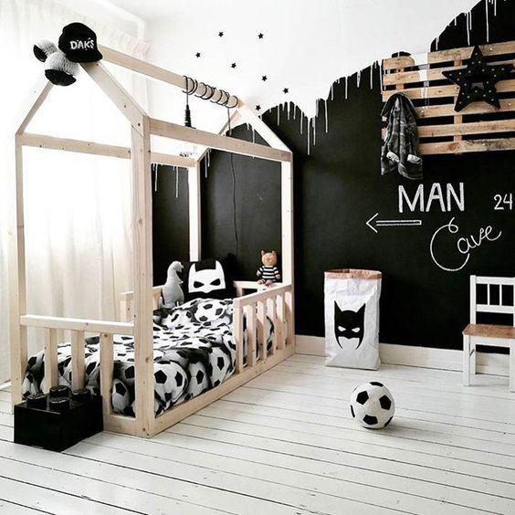 Negro para decorar dormitorios infantiles
