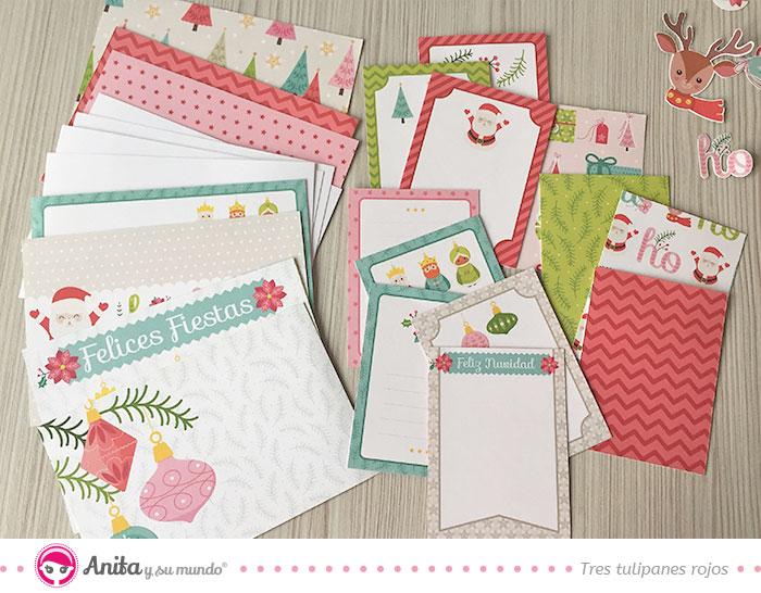 tarjetas de la colección en navidad para diario navideño